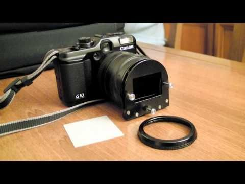 DIY CONVERT 35mm SLIDE TO DIGITAL, WITH CANON G10 - YouTube
