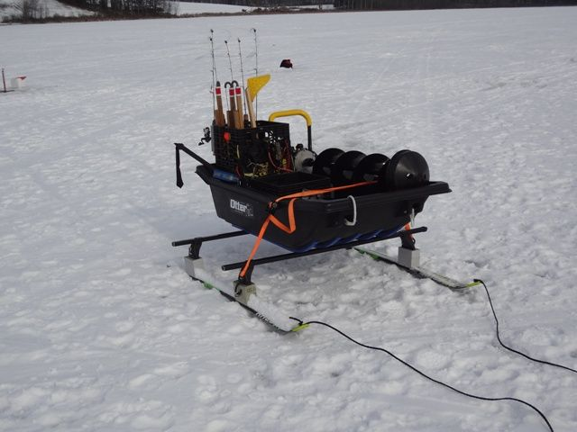 Let 39 s see your sleds smitty sled pinterest ice for Ice fishing snowmobile