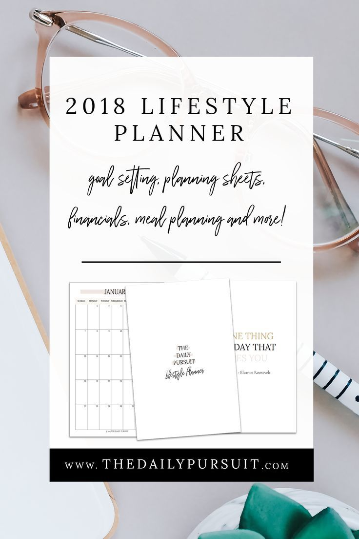 2018 Lifestyle Planner. Printable Planner. Goal setting and intention worksheets. Printable Lifestyle Planner. thedailypursuit.com