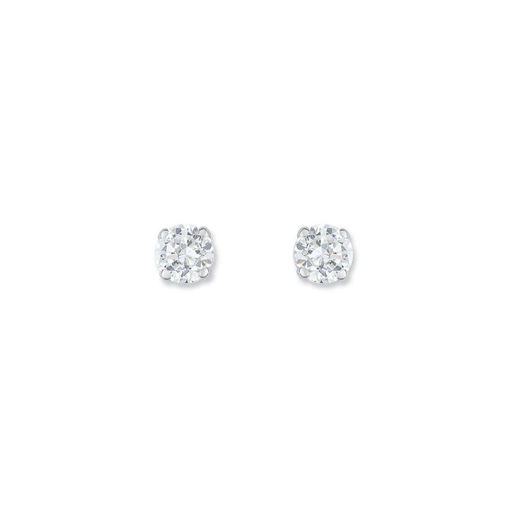 Boucles d'oreilles or et oxyde de zirconium