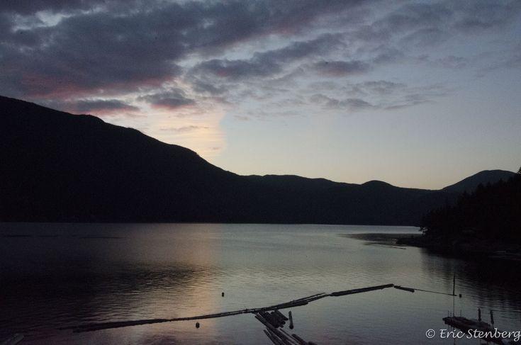 Northwest view of Powell Lake, British Columbia