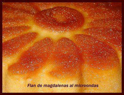 La casita verde: FLAN DE MAGDALENAS AL MICROONDAS / PUDIM DE QUEQUES EM MICROONDAS