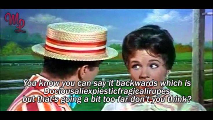"Mary Poppins (1964) - ""Supercalifragilisticexpialidocious"" - Video/Lyrics Música:""Supercalifragilisticexpialidocious"", de Dick Van Dyke, Julie Andrews (Años 60)"