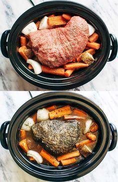 Slow Cooker Pot Roast   pinchofyum.com