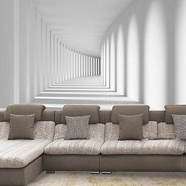 shinny+leer+effect+grote+muurschildering+wallpaper+3d+doorgang+promenade+kunstmuur+decor+voor+de+woonkamer+achtergrond+–+EUR+€+44.09