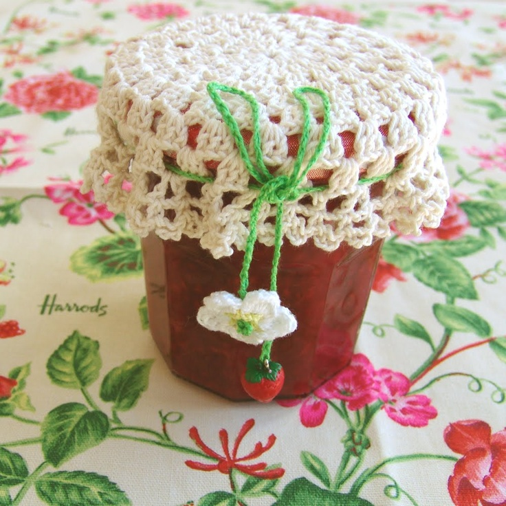 Crochet Patterns Jar Lids : m?s botellas crochet crochet vidrio cosas curiosas cosas varias vasos ...