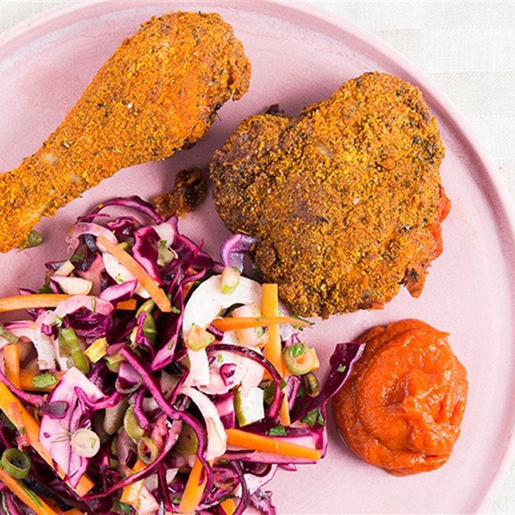 Try this Pablo's Chicken with Quick Coleslaw and Ketchup recipe by Chef Jasmine and Melissa Hemsley . This recipe is from the show Hemsley   Hemsley - Healthy