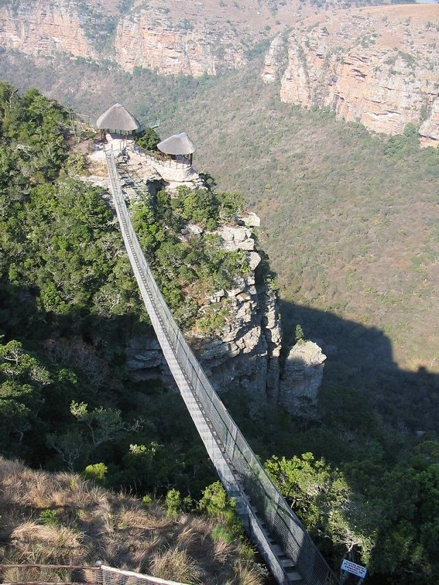 The Oribi Gorge Swing Bridge in South Africa