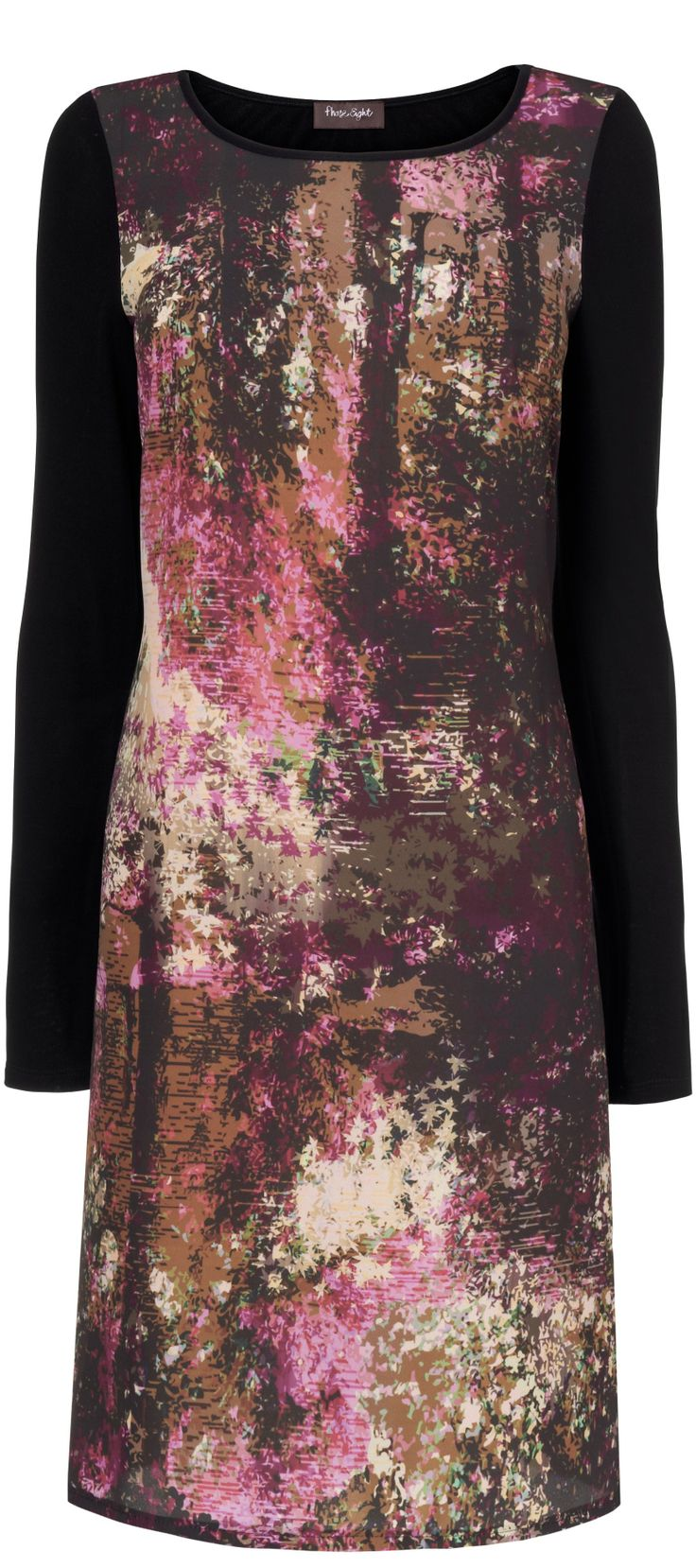 Pantone Cognac brown print dress for fall 2014 - article -   http://www.boomerinas.com/2014/05/25/pantone-fall-winter-2014-15-clothing-colors-not-my-faves/