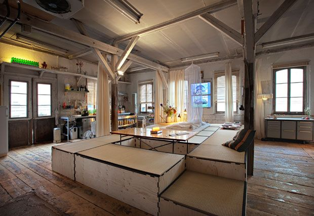 Daniel Freitag (bag's designer) house in Zurich. as simple, rough, lived as that. this is the kind of place I love