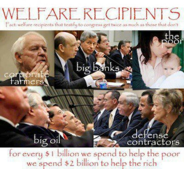 What is welfare recipients?