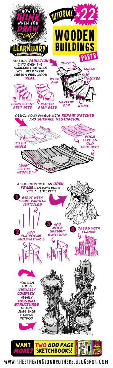 22+HOW+to+THINK+when+you+draw+BOOK+PDF+WOODEN+HOUSES.jpg (383×1246)