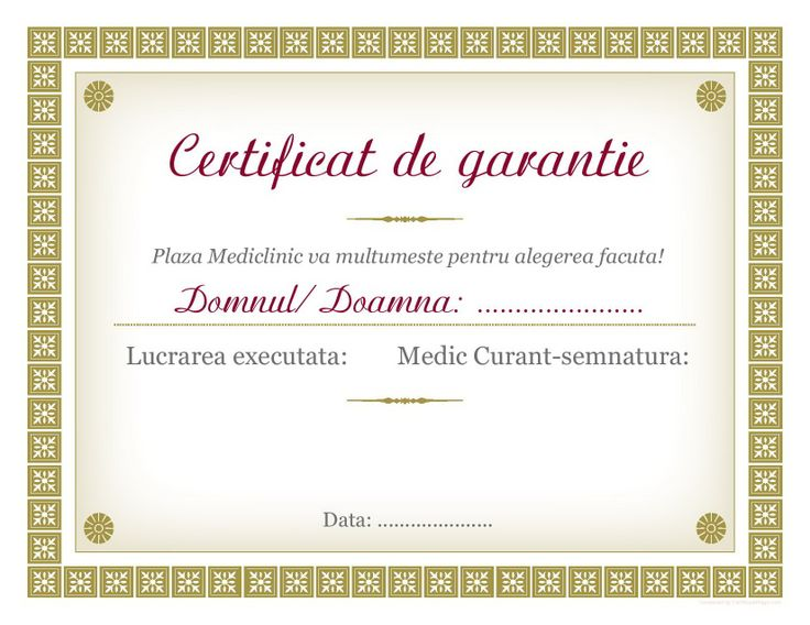 dental guarantee,guarantee certificate,guaranteed dental work