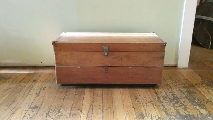 Vintage Machinist Tool Box, Wooden Tool Bow With Drawers, Large Wood Tool Box, Vintage Tool Storage, Homemade Machinist Box, Wooden Box by UpTheAntiqueCo on Etsy
