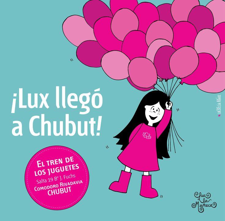 Lux en el Tren de los Juguetes en CHUBUT! #pink #lux #argentina #muñeca