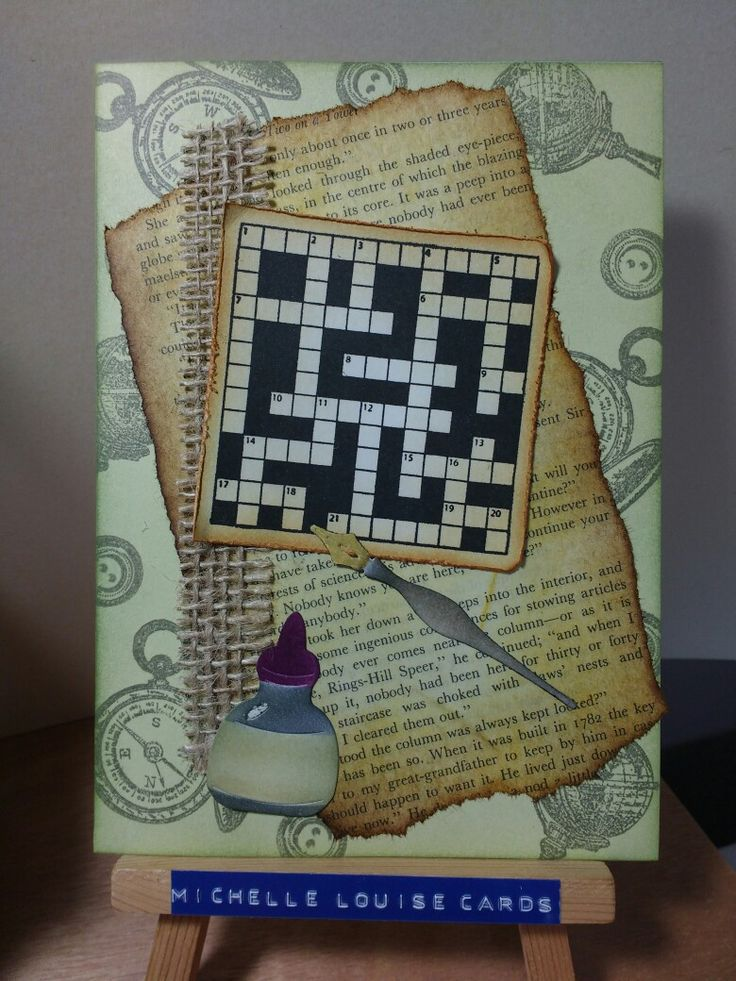 Docrafts Papermania Mr Mister crossword stamp plus  Sizxix Sewing & writing die set