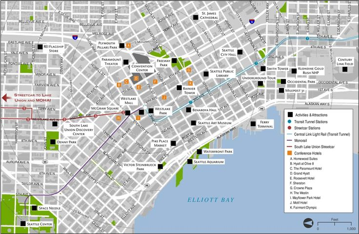 Seattle tourist attractions map