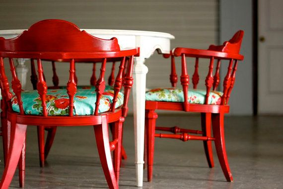 Dishfunctional Designs: Vintage Red Painted Furniture