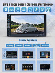 EinCar 7 pouces Linux Double 2 Din voiture Bluetooth écran tactile NO-DVD Stéréo Dash Système de navigation GPS avec caméra de recul sans…