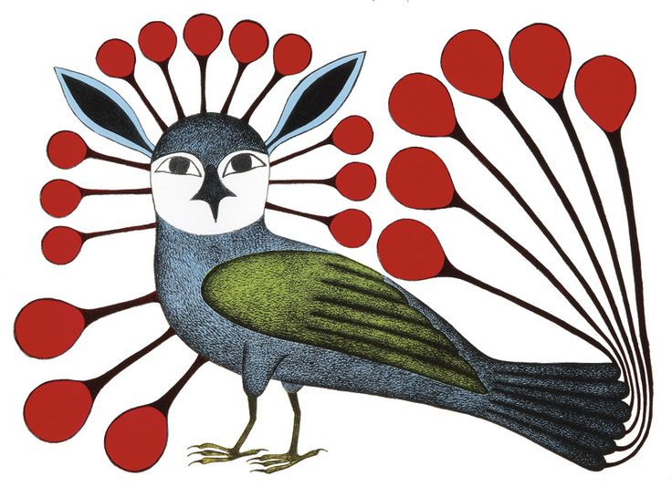 Inuit Art by Kenojuak Ashevak http://www.snowgoose.ca/Cape%20Dorset%202007/2007Cape%20Dorset.htm