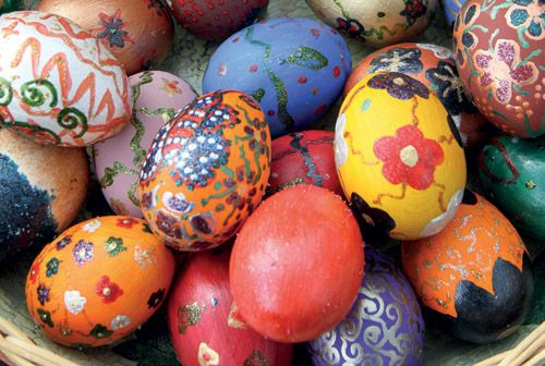 Red as the Colour of Christianity http://www.airserbia.com/en/home/main_menu/travel_info/airserbia_review/april_2014/easter_eggs_04_2014.html