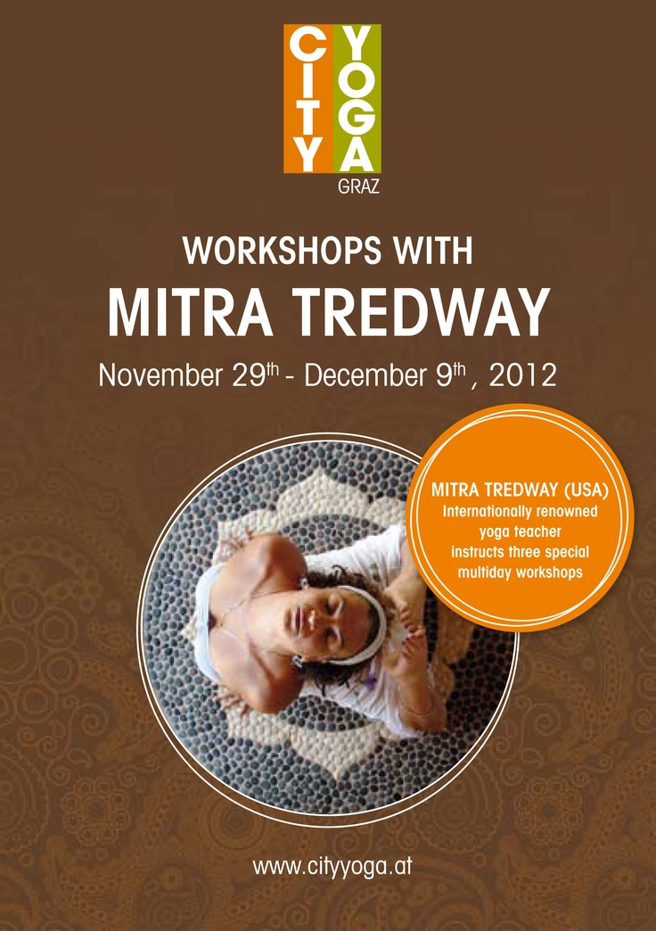 Please join the City Yoga Studio in Graz (Austria) for one of these unique Iyengar Workshops with Mitra Tredway from the USA. Save your place now!