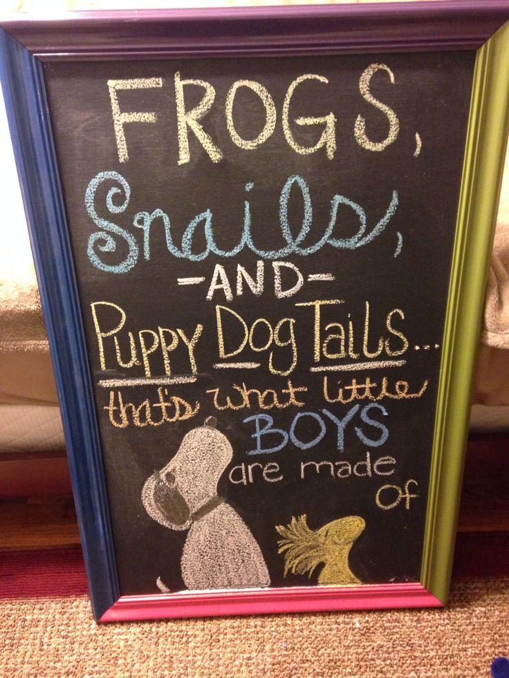 Snoopy baby shower chalkboard art.