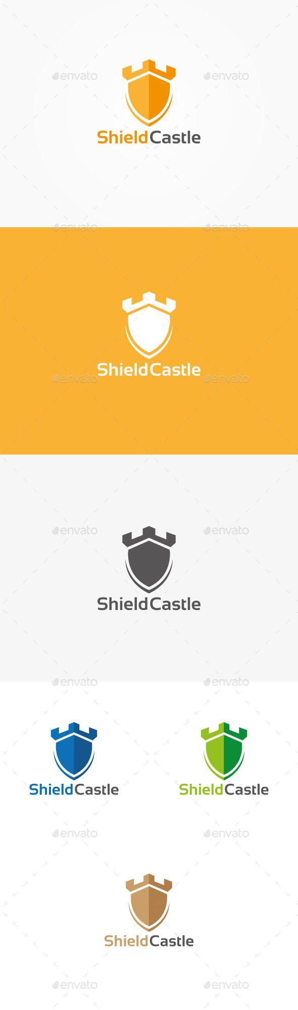 Shield Castle Logo - Symbols Logo Templates