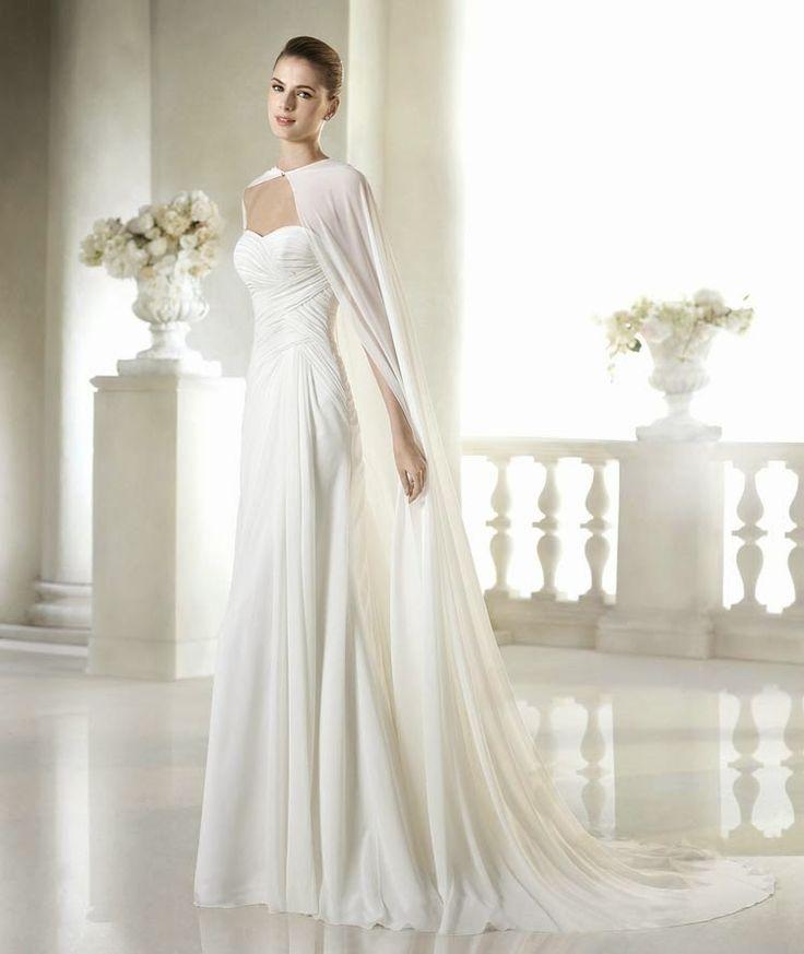 vestido de novia con capa - Buscar con Google