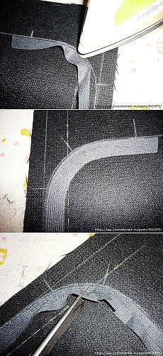 Наклеиваем правильно клеевую на скруглённые края изделия. МК