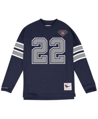 Mitchell & Ness Men's Emmitt Smith Dallas Cowboys Retro Player Name & Numer Longsleeve T-Shirt - Navy/Silver M https://www.fanprint.com/stores/nascar-?ref=5750