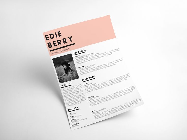 the edie modern resume template for creatives modern cv cool resumes cool