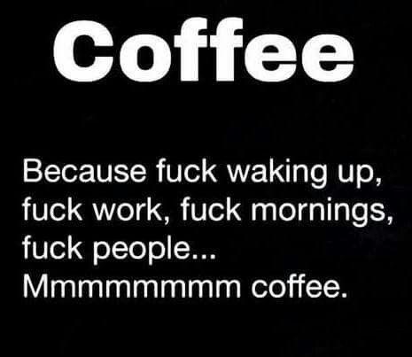 Mmmmm coffee ☕