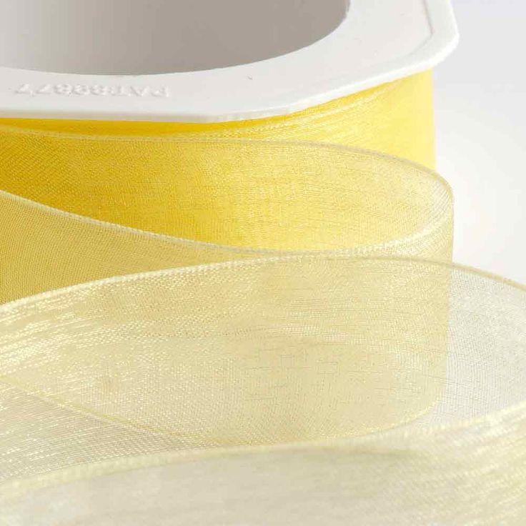 Lemon Organza Ribbon
