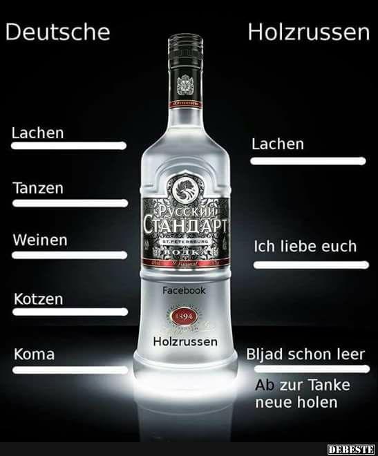 Deutsche vs. Holzrussen..   Lustige Bilder, Sprüche, Witze, echt