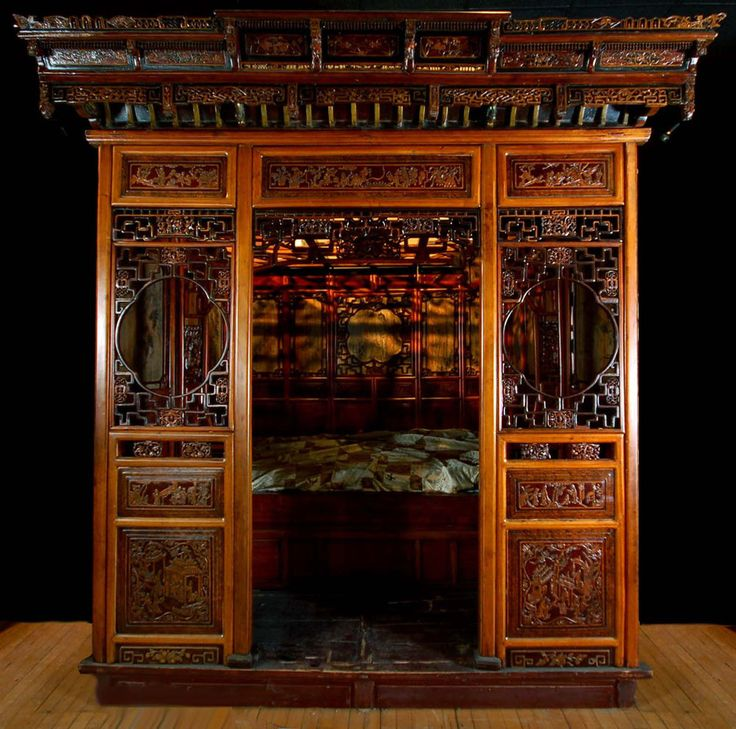Antique Bed: Fine 19th C. Chinese Wedding Bed Dowry Marriage Opium