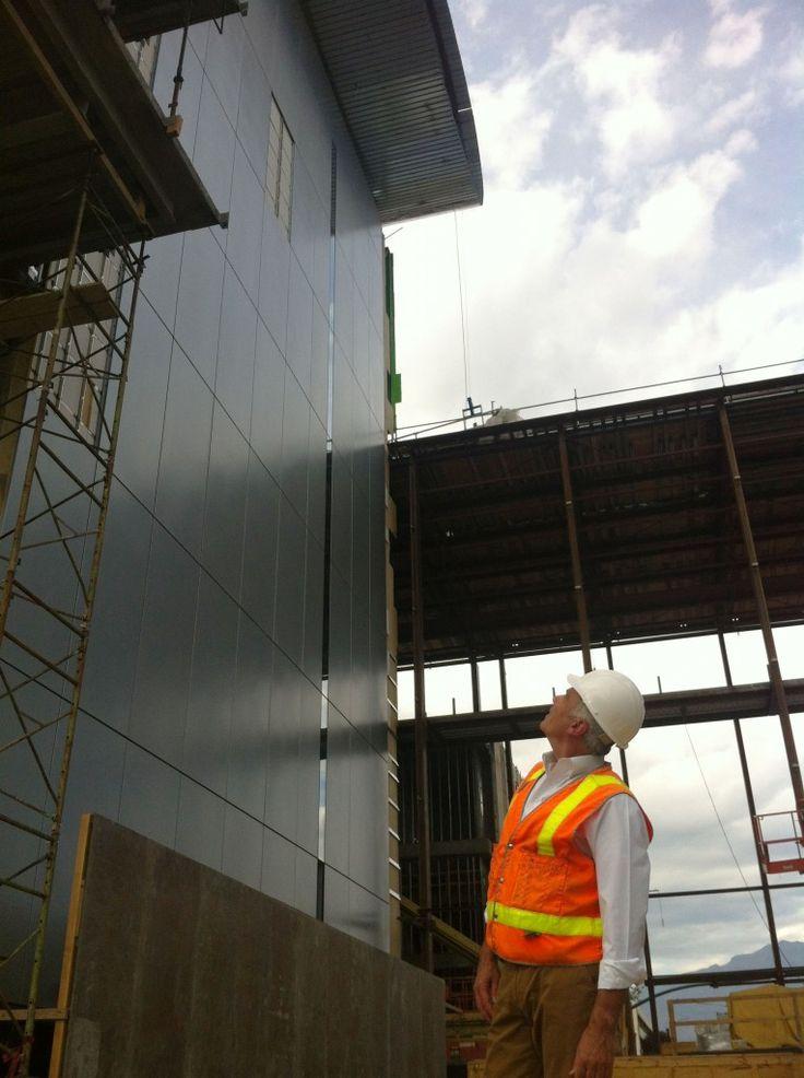 Scott Schwerdt taking a look at the New Innovation Center.