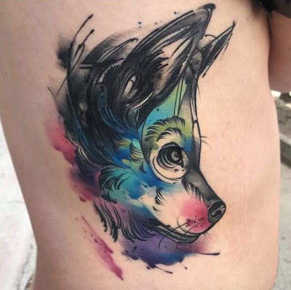 Best 25 Wolf Girl Ideas On Pinterest: 25+ Best Ideas About Watercolor Wolf Tattoo On Pinterest