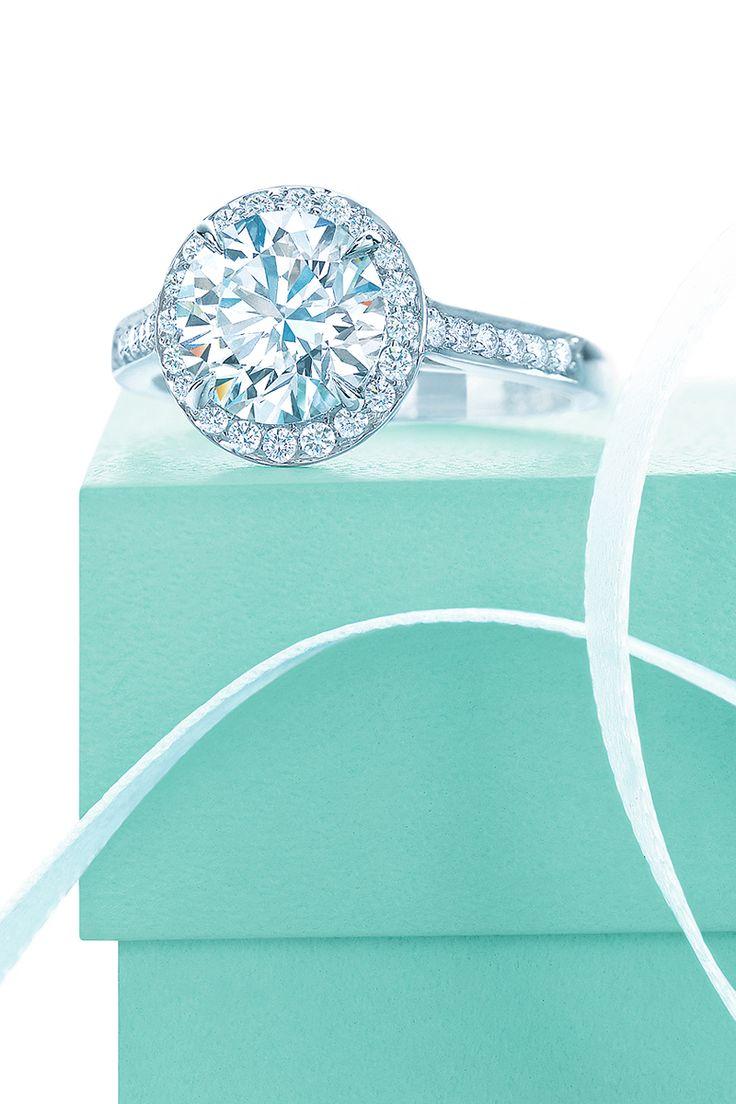 Tiffany Embrace diamond engagement ring. #TiffanyPinterest