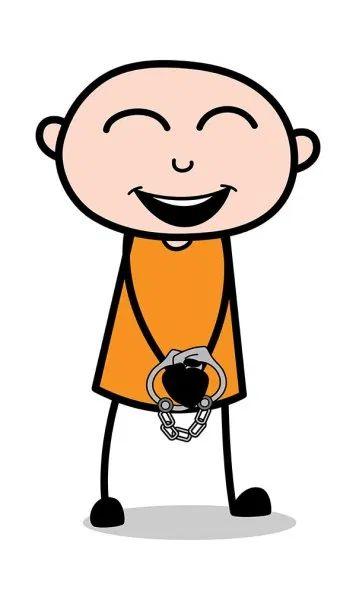 Laughing  Loudly - Cartoon thief criminal Guy Clip-art : TheToonCompany