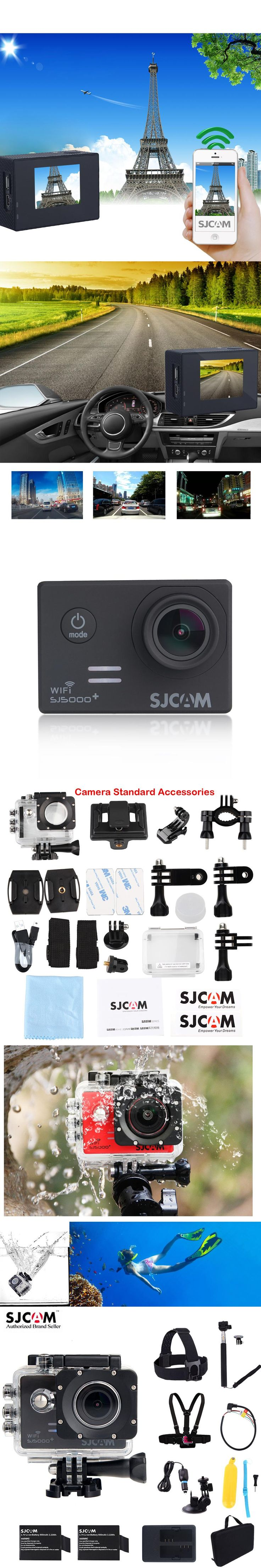"100% Original SJCAM SJ5000 Plus WiFi 1.54"" Diving 30M Waterproof Outdoor Sports Action Mini Camera Sj 5000 plus Cam DVR"