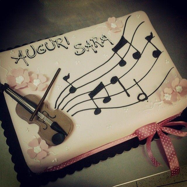 il violino, la mia passione! #tortamusicale della pasticceria LaMimosa di simocakedesigner.it