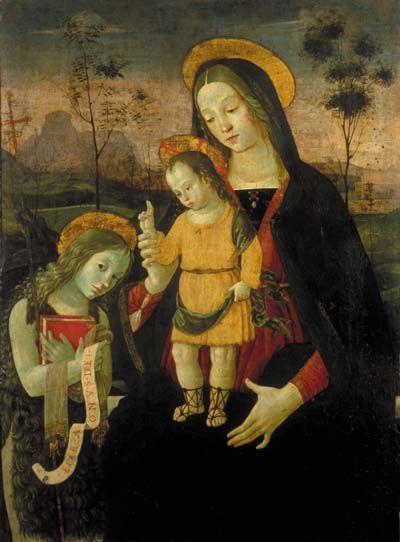 Pinturicchio (or Bernardino di Betti, Perugia, the son of Benedetto or Betto di Blagio, 1454-1513): Madonna and Child