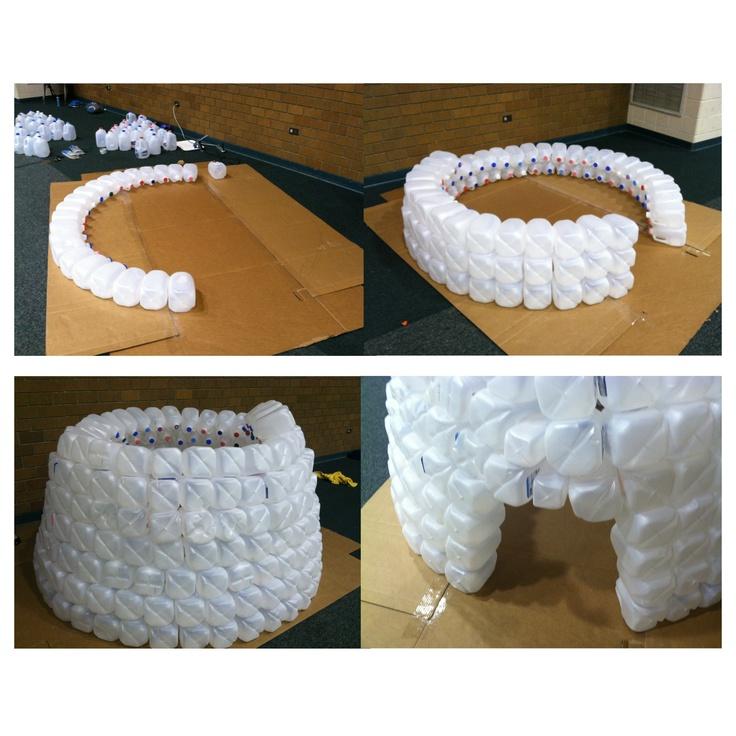 how to build a milk jug igloo video