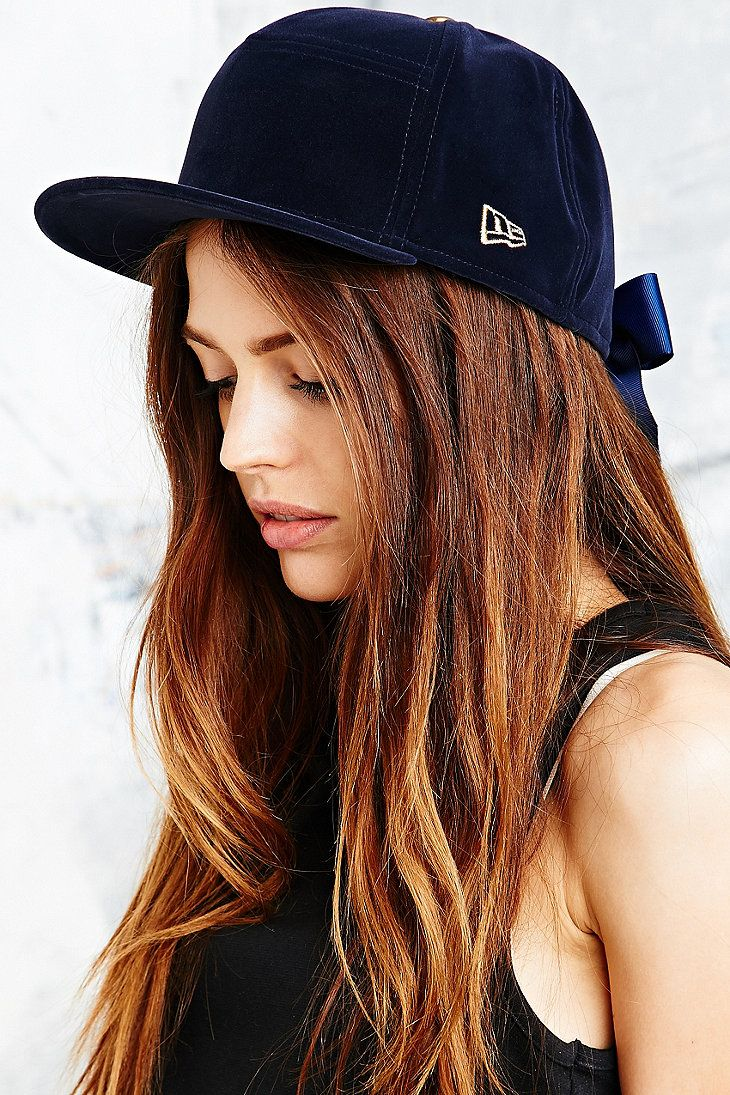 It's like a riding helmet!  House of Holland x New Era Velvet Cap in Navy