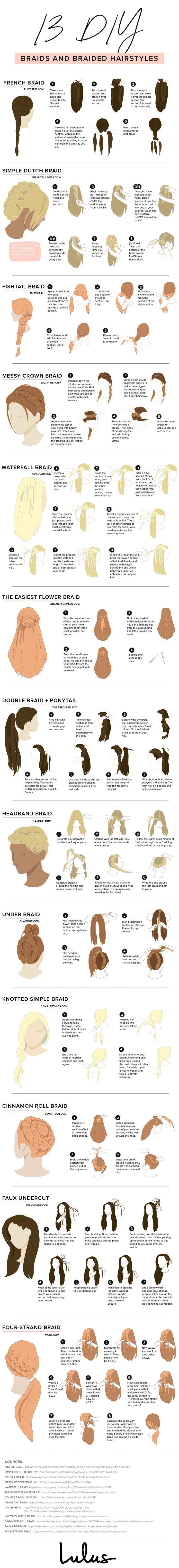 13 DIY-Zöpfe und geflochtene Frisuren #frisuren #geflochtene #zopfe #haaretipp …
