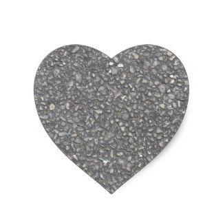 Textura del asfalto pegatina en forma de corazón