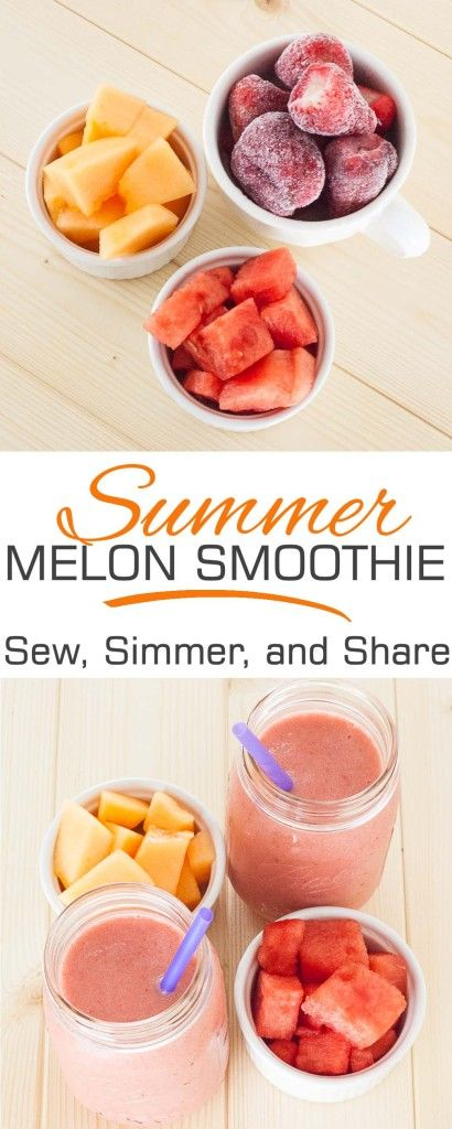 Summer Melon Smoothie | SewSimmerAndShare.com #paleo #whole30 #vegan