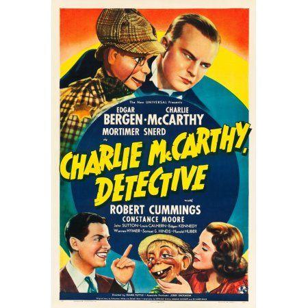Charlie Mccarthy Detective Canvas Art - (24 x 36)
