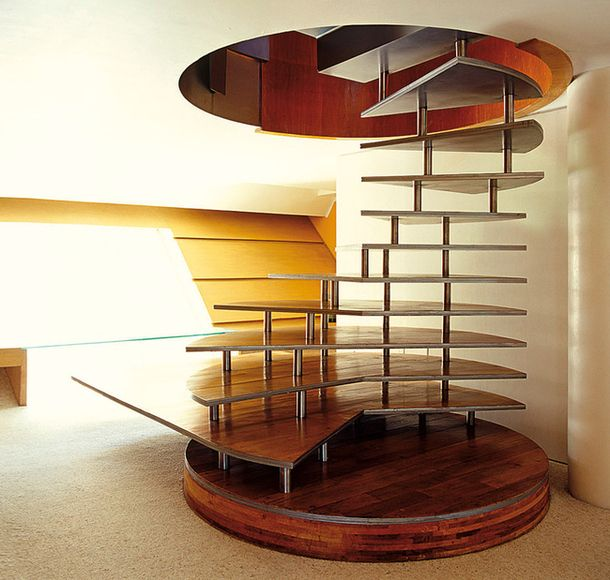 Inspirational Stairs Design: An Intricate Staircase Design, Where Curves Turn It Into A